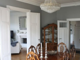 Dining room with classical elements in the interior