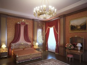 Example interior classic bedroom