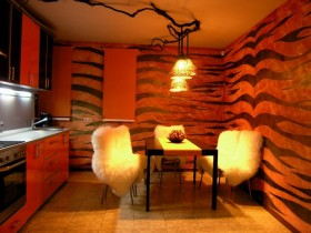 A small dark kitchen Safari