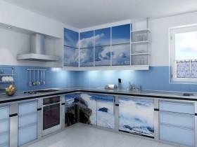 Large bright kitchen marine style