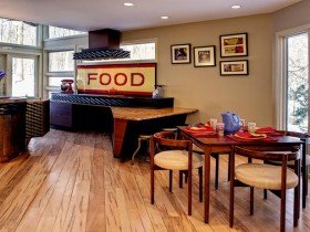 Interior stylish combined kitchen