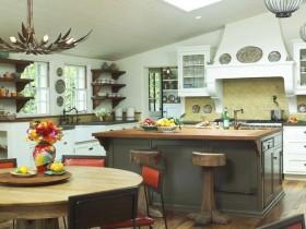 Stylish contrast interior kitchen