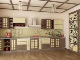 Bright kitchen interior in Japanese style