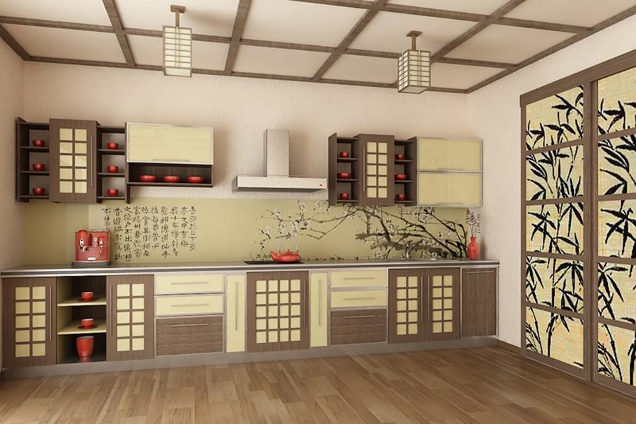 Дизайн японских кухонь