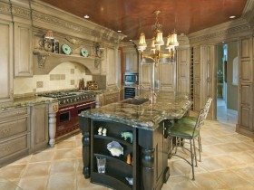 Classic interior large kitchen