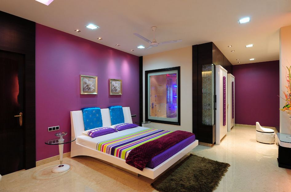 White and purple bedroom ideas