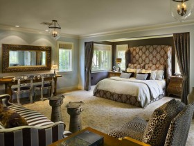Bedroom interior in the style of Safari