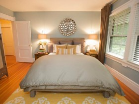 The interior is small, bright bedrooms