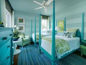 Спальня для дваіх дзяцей у блакітным колеры
