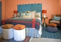 Яскрава спальня в східному стилі