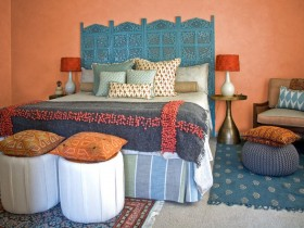 Bright bedroom in Oriental style