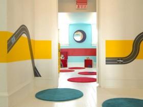 Bright design bright hallway
