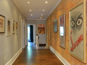 The interior hallway in eclectic style