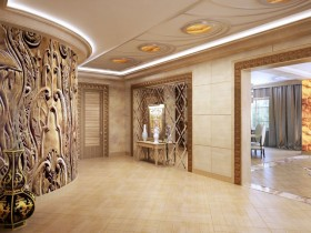 Spacious hallway with designer finishes