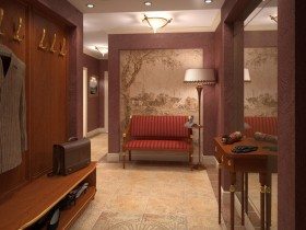 The interior hallway in a classic style