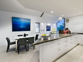 The interior combined bright kitchen in cottage