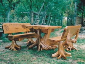 The idea of creation of garden furniture with their hands