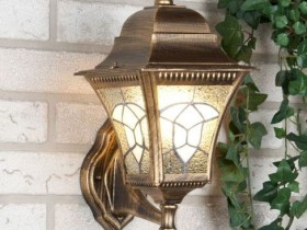 Wrought iron lamp for garden