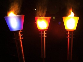 Garden lighting torches