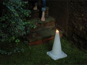 The idea of garden lighting