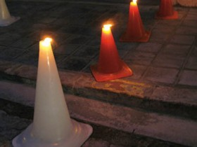Garden lighting stylish traffic cones