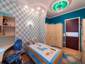 Bright modern children's room for boy