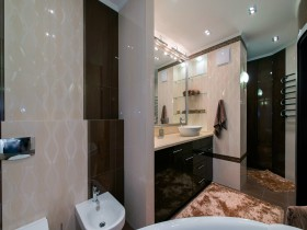 The design of the bathroom in design apartment