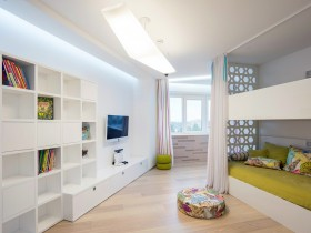 Bright kids room for two children