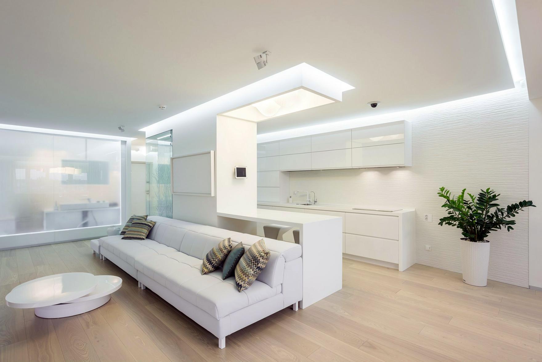 Интерьеры квартиры в темно-светлых тонах 20 фото Фото дизайн квартир в светлых тонах