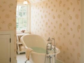 Bright bathroom in a marine style