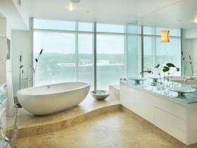 Large bright bathroom