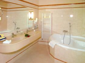 Bathroom interior in light shades