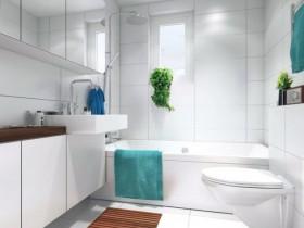 Bright bathroom in modern style
