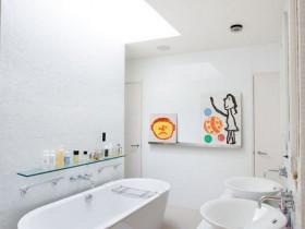 The idea of design bright bathroom
