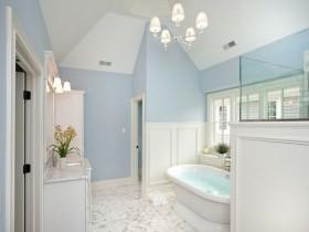 The interior of bright bathroom