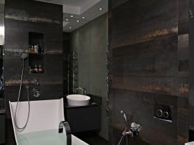 Bathroom in dark colors
