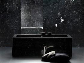 Дизайн темній ванній