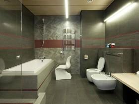 Інтер'єр темної ванної кімнати