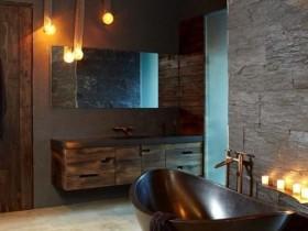 Оформлення ванни у темному кольорі