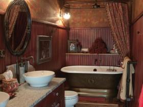 Ванная комната темно-коричневого оттенка