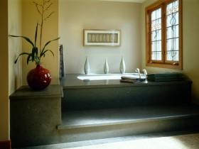 Стильная ванная темного цвета