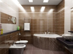The design of the bathroom
