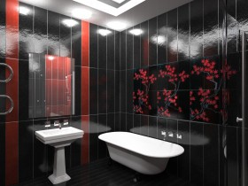 Bathroom with Chinese style elements