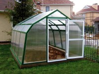 Stylish greenhouse in the country