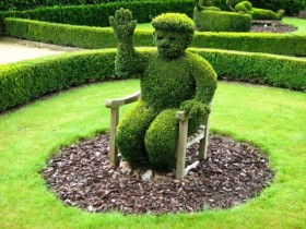 The idea of topiary design at the cottage