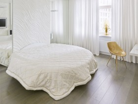 White bedroom in the Scandinavian style