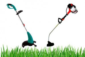 Choose a trimmer for cutting the lawn: petrol or electric