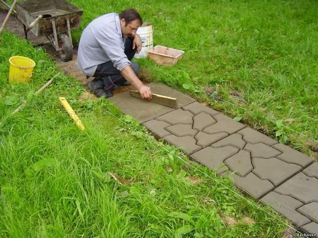 Бетонная тротуарная плитка своими руками 75