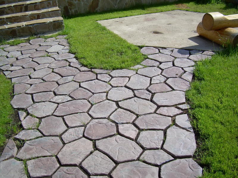 Оригинальный пример укладки тротуарной плитки