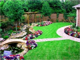 Photo examples landscape design of the plot 8 acres